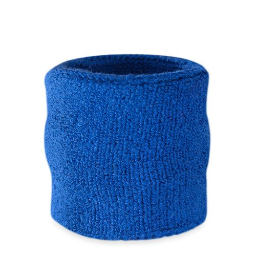 Suddora Wrist Sweatband - Athletic Cotton Terry Cloth Wristband for Sports (Blue)(1 Piece)