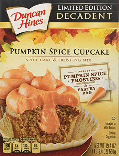 Limited Edition Decadent Pumpkin Spice Cupcake Mix - Pack of 2 (19.4oz Each Box) (Cupcakes Spice Pumpkin)