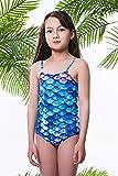 Idgreatim Toddler Girls Mermaid One-Piece Swimsuit