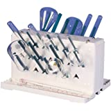 """Bel-Art Scienceware 189330021 Lab-Aire II Double-Sided Non-Electric Benchtop Drying Rack, 14.75"""" Width x 10"""" Depth x 8.4"""" Height"""