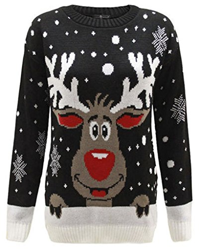 Home ware outlet - Jerséi - para mujer rojo Black reindeer UK Talla L/X-Large