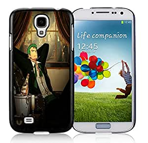 Hot Sale Samsung Galaxy S4 Case ,Unique And Lovely Designed roronoa zoro one piece Cover Case For Samsung Galaxy S4 Black Phone Case CR-527