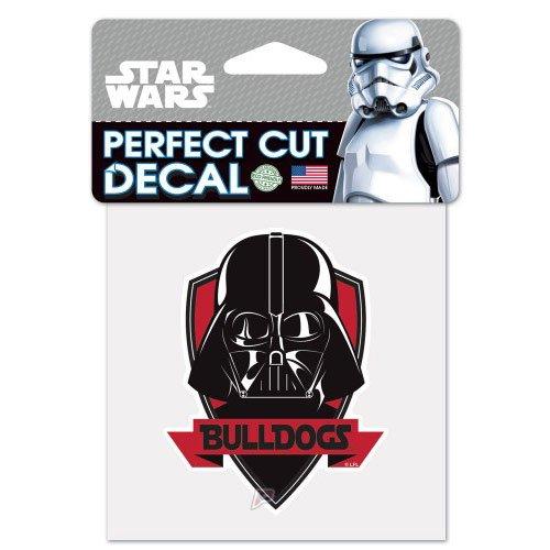 Georgia Bulldogs Darth Vader Star Wars Logo Perfect Cut Decal 4