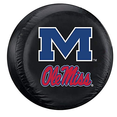 Mississippi Rebels NCAA Spare Tire Cover by Fremont Die (Black)