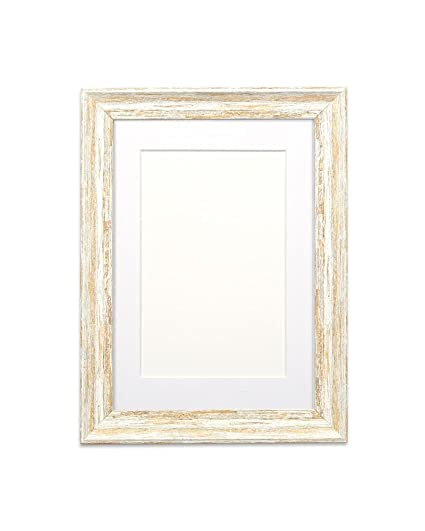 Amazon.com - Paintings Frames Spoon White Colour Frame Distressed ...