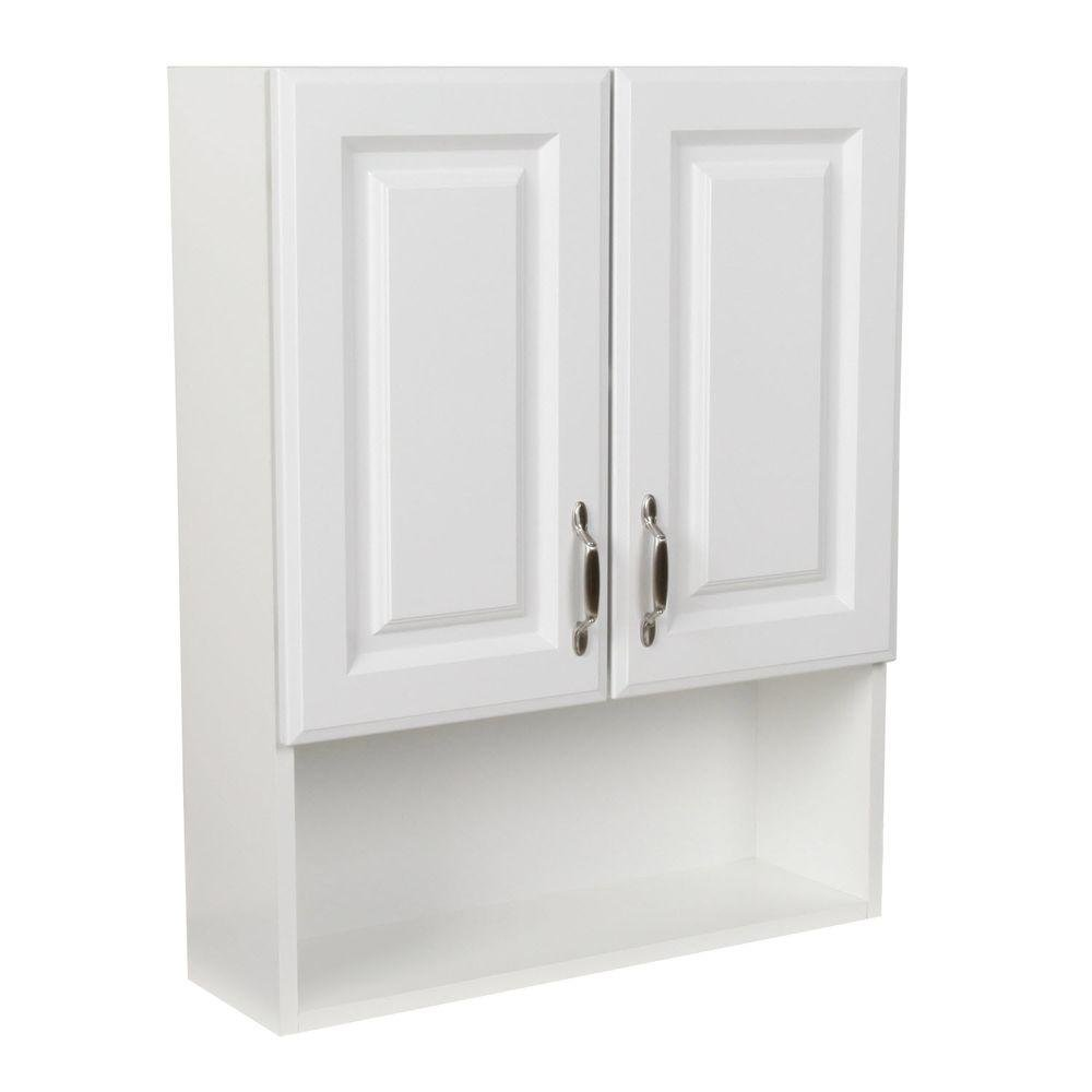 Over Toilet Wall Cabinet, White (24 in. W x 30 in. H x 6.89 in. D) by Wood Crafters