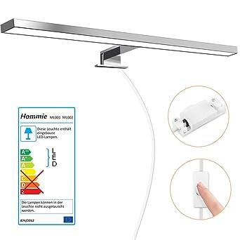 Luminaire Salle de Bain 8W Lampe Miroir LED Blanc neutre IP44 avec  Interrupteur d\'Alimentation, Lampe Armoire Miroir Eclairage pour Maquillage  ...