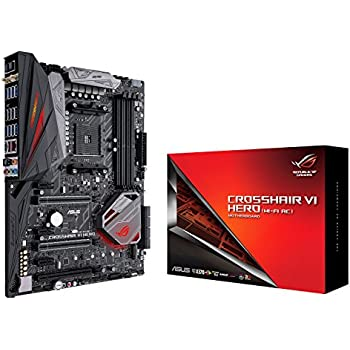 Amazon.com: Asus ROG Crosshair VI Hero AMD Ryzen AM4 DDR4 M ...