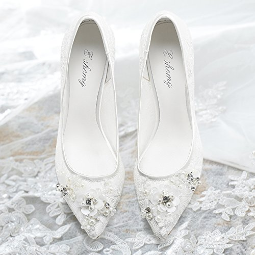 Women Shoes Women Pointed Wedding Heels VIVIOO White Documentary Wedding Sandals 4 Shoes Bride With Shoes High In Prom The wTTORIqH