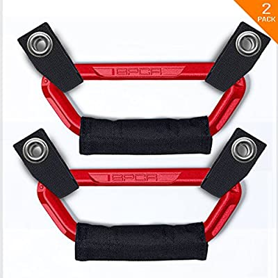 GPCA Headrest Grab Handles PRO Universal for Jeep, Truck,Sports Car,Easy headrest Pole Mount for 4X4 Off-Road Backseat Passengers. GP Back Grip Patent Pending. (RED Aluminum): Automotive