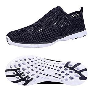 Kanlanlo Men's LightweightMeshSlip On Water Shoes Quick Drying Aqua Shoes Outdoor Beach Sneakers