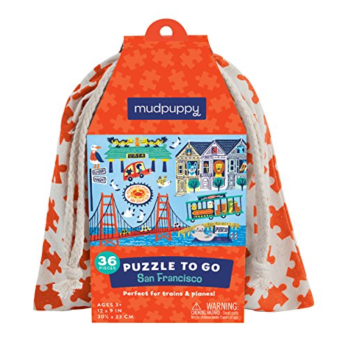 Mudpuppy San Francisco to Go Puzzle, 36 Pieces, Ages 3+, Colorful San Francisco Artwork, Travel-Friendly Bag, Made with Safe, Non-Toxic Materials (Best Family Activities In San Francisco)