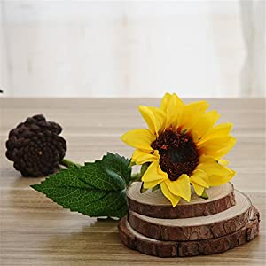 Crt Gucy 6 Pcs Artificial Sunflowers Bouquet For Home Hotel Office Decoration 4
