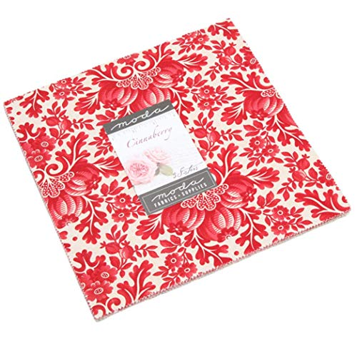 Cinnaberry Layer Cake, 42-10 inch Precut Fabric Quilt Squares by 3 Sisters