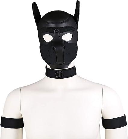 Medium Black Robot Mask