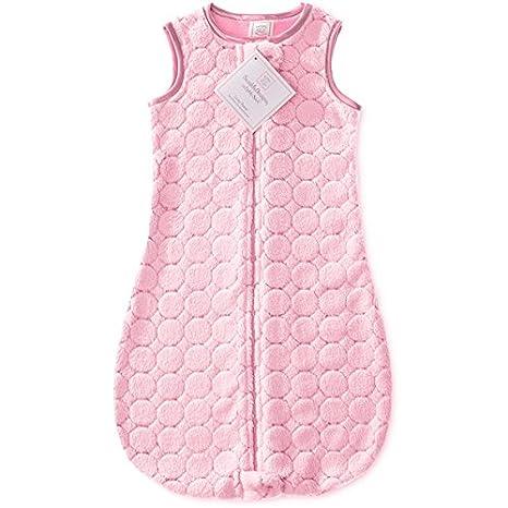 SwaddleDesigns Saco de dormir Cozy zzZipMe, Círculos, Rosa pastel, 3-6 meses: Amazon.es: Bebé