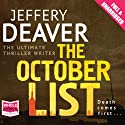 The October List Audiobook by Jeffery Deaver Narrated by Todd Boyce
