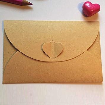 Sobres de papel kraft con hebilla de corazón Papel caqui con ...
