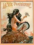 1920's La Vie Parisienne Mermaid French Nouveau Paris France Europe European Travel Advertisement Art Poster. Poster measures 10 x 13.5 inches