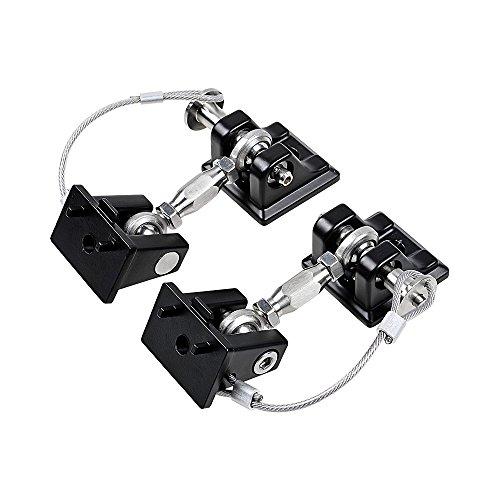 Hood Lock Catch (Stainless Steel Latch Locking Hood Catch Kit for Jeep JK Wrangler 2007-2017)