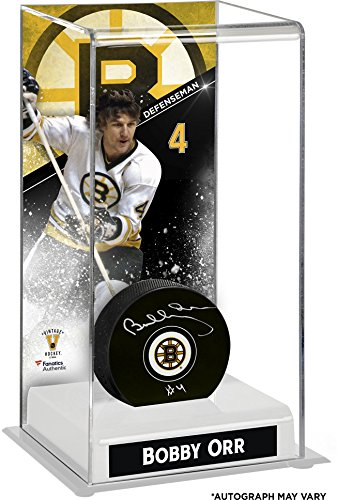 - Bobby Orr Boston Bruins Autographed Puck with Deluxe Tall Hockey Puck Case - Fanatics Authentic Certified