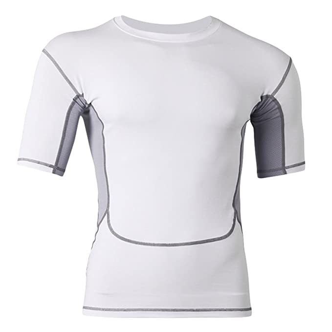 da464748b2 Lvguang Camisas Hombre Camiseta Térmica de Compresión de Manga Corta para  Hombre Fitness Atlético Tops Blusa