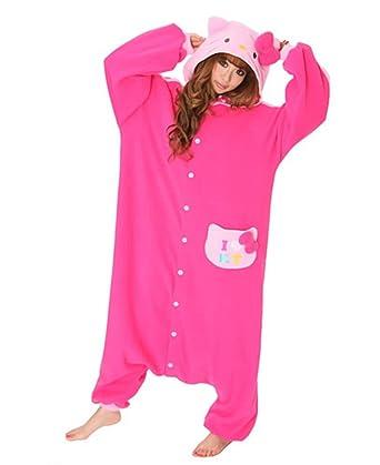 57f99f78c Amazon.com: Japan Sazac Original Kigurumi Pajamas Halloween Costumes Sanrio  Hello Kitty Rose: Clothing