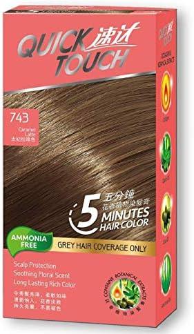 Quick Touch - Tinte permanente para el cabello (5 minutos, 743 caramelos)