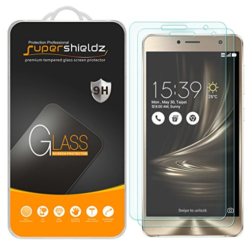 [2-Pack] Supershieldz for Asus ZenFone 3 Deluxe [ZS550KL] Tempered Glass Screen Protector, Anti-Scratch, Anti-Fingerprint, Lifetime Replacement Warranty