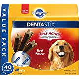 PEDIGREE DENTASTIX Large Dog Chew Treats, Beef, 40 Treats