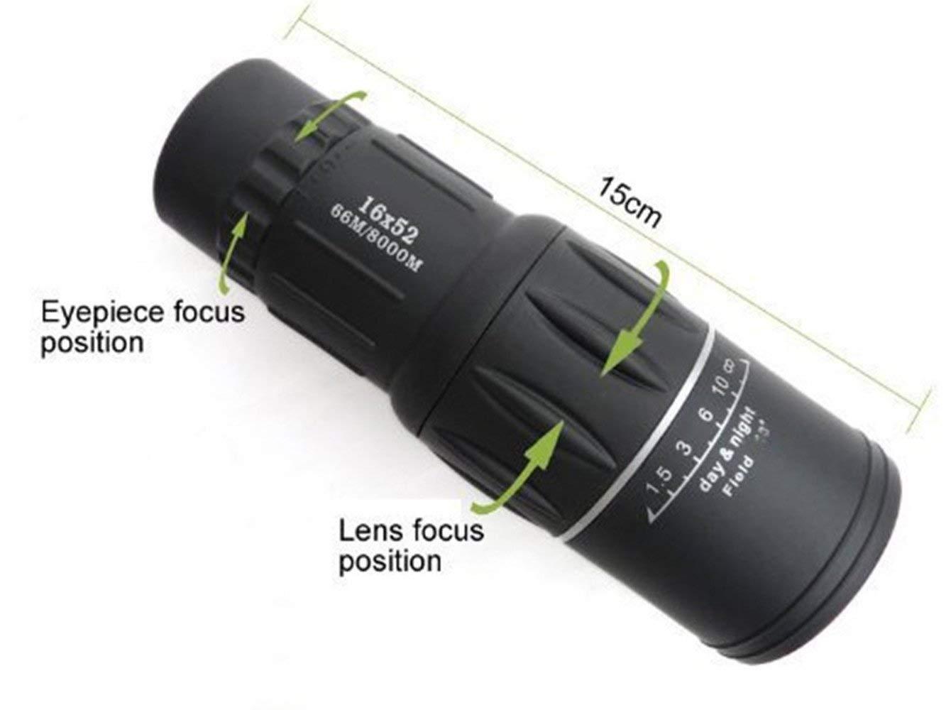 Einfach zu verwenden 16x52 wasserdichter justierbarer doppelfokus