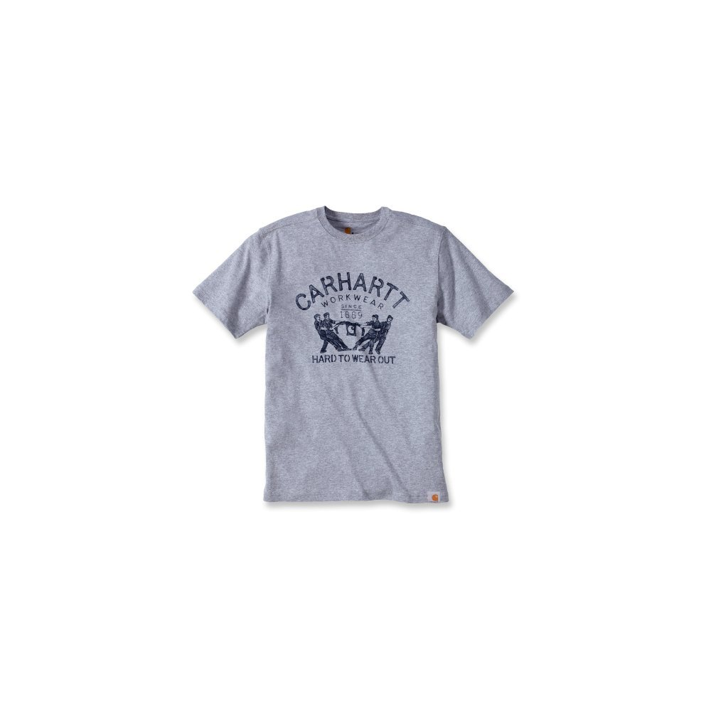Carhartt T-Shirt Maddock Graphic Hard To Wear Out 102097, Color:heather grey;Größe:L
