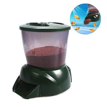 Alimentador Peces Automático Alimentador De Peces De Estanque Alimentador Automático De Peces De Acuario Temporizador Programable