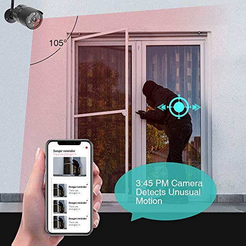 1080P Outdoor Security Camera – IP66 Waterproof WiFi Camera, FHD Night Vision, A.I. Motion Detection, Instant Alert, 2…