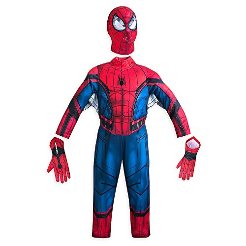 [Marvel Spider-Man Costume for Kids - Spider-Man: Homecoming Size 5/6 Red 428443220975] (Spiderman Bodysuit)