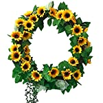 Fycooler-Sunflowers-Wreaths-Roses-Vines-Dry-Branch-DIY-Wreath-17-Garland-with-Artificial-Succulent-Dcor-for-Hanging-Front-DoorWall-GiftWedding-Party-Decor-Yellow-Artificial-Flowers-Decoration