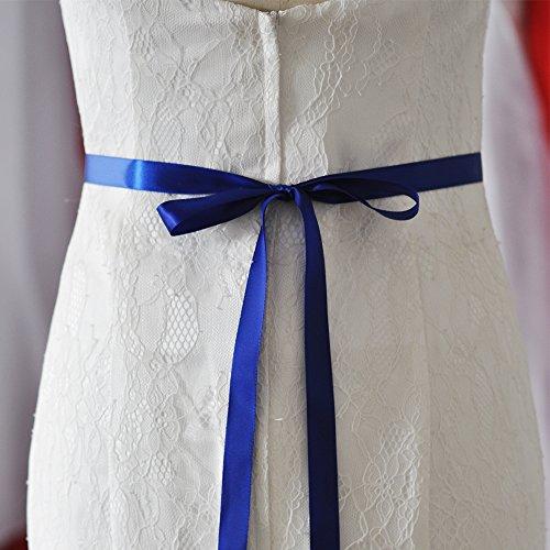Top Queen Women's Crystal Diamond Bridal Belt Sashes Wedding Belts Sash for Wedding (Royal Blue)