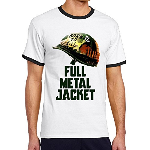 Men's Full Metal Jacket Vietnam War Film Joker Contrast Color Shirt -