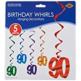 "Beistle 57551-90 5-Pack""90"" Whirls, 3-Feet"