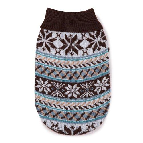 - Zack & Zoey Acrylic Snow Lodge Dog Sweater, Small/Medium, Chocolate