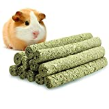 ULIGOTA Timothy Hay Chew Sticks Pet Chew Treats & Toy Rabbit Guinea Pigs Chinchilla Hamster- 20 Sticks(8.5oz)