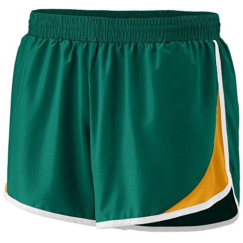 Augusta Sportswear WOMEN'S JUNIOR FIT ADRENALINE SHORT XL Dark Green/Gold/White