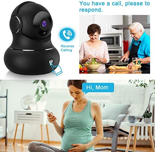 [Updated Version] Indoor Home Security Camera, Littlelf 1080p 2.4G WiFi Camera with Smart Motion Tracking Detection, 2-Way Audio, Night Vision and Cloud Service, Compatible with Alexa (Black) 514iCX0RzZL