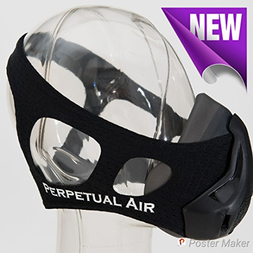 Elevation Training Breathing Workout Mask 4.0 - Cardio Equipment, Running, Fitness and Exercise Device for High Altitude, Oxygen, Elevation, Resistance and Breathing Training by Perpetual Air