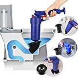 Thinvik Power Toilet Plunger Set Drain Clog Remover Tool Drain Snake Tub Drain Cleaner Opener Air Drain Blaster Gun Bellows Plunger for Sink Bath Toilets Bathroom Shower Kitchen Clogged Pipe Bathtub
