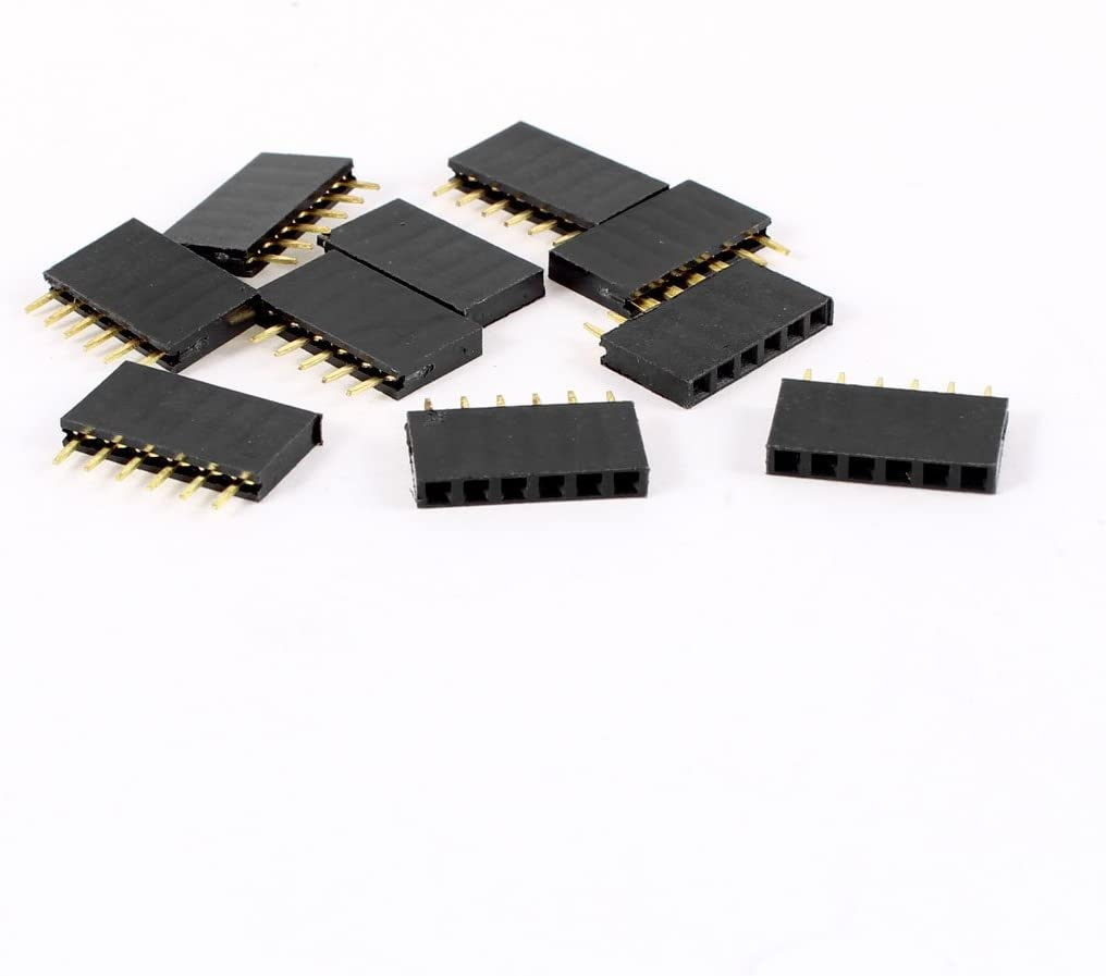 10x Pin PC Header Plug Housing Connector Pitch 2.54mm Prototyping Socket Female