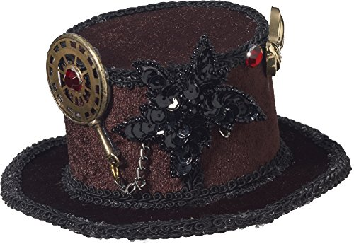 Steampunk Gears Mini Top Hat
