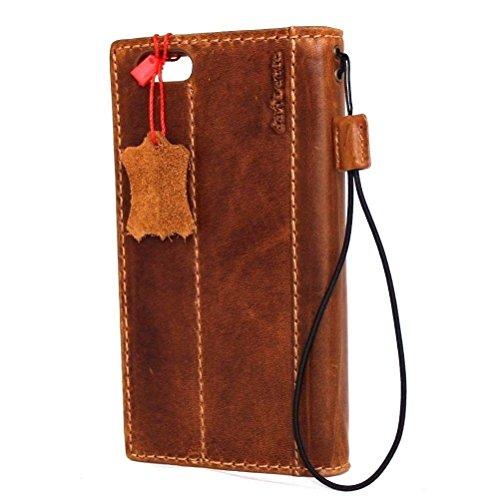Véritable vintage en cuir faite à la main pour apple iphone - 6S plus lite Housse Portefeuille Retro Id