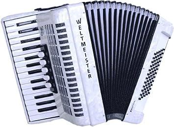 Campeones del Mundo Piano Acordeón Cristal weissperloid ...