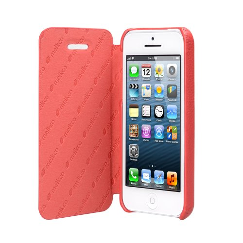 Melkco APIPONLCFB2RDLC Face Cover Book Type Ver 2 Premium Leder Case für Apple iPhone 5C rot